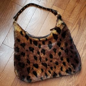TIANNL hobo faux fur bag